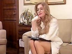 Vintage Hairy Mature has a 3 Way and Dp in Lingerie!