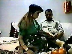 Vintage arab amateur couple make hard homemad