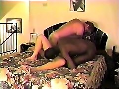 Splendid blonde in threesome vintage gonzo action