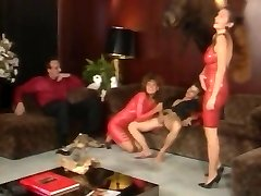 Crimson latex bang-out under the elk head