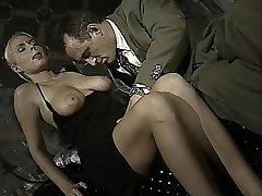Italian babe does ass-to-jaws in this vintage clip