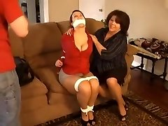 step mother and step stepson punish tutor