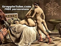 Vintage retro classical gonzo fucking and oral hardcore sex perversions