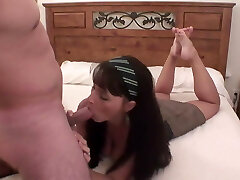 Classic foot fuck with sweet brunette. Back to basics.