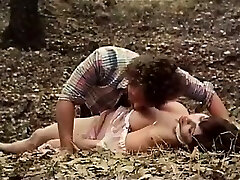 Desiree Cousteau, Joey Silvera in old-school porn scene with
