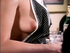 Old-school scene babe giving oral and penetrating