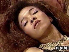 Whitney Cole - Skinny Black Slut Riding White Trouser Snake
