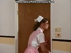 Perverted nurses Amber Hunt and Nancy Hoffman get fisted and screwed