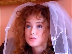 Sizzling ginger bride fucks an Indian babe with her husband