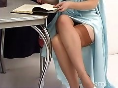 Justine Joli - Old School Girdle And Stockings