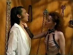 Vintage Femdom Olivia Outre with Male Sub