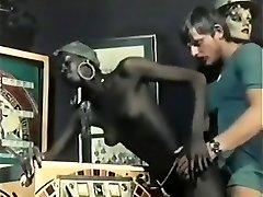 Hottest Ebony and Ebony, Vintage porn scene
