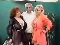 Vintage FFM Threesome With Mature Femmes