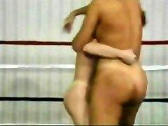 Retro Naked Wrestling