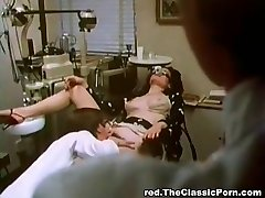 Doctor pulverizes sexy lady in a cabinet