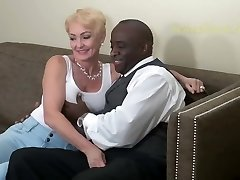 Blonde Nympho Fucks Black Man Hard. Classic