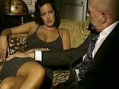 Vintage porn flick with threesome sex