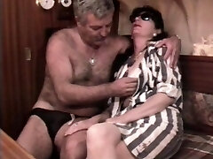 Vintage French fucky-fucky video with a mature furry couple