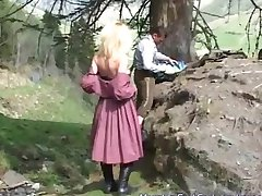 german MILF likes anal in nature
