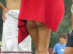 Sexy Ass Micro Bikini Teens - Voyeur Teen Video