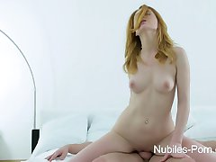 Sexy redhead wants your cum on her face
