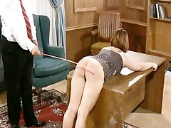 brunette is given a serious spanking