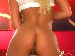 Tanya James stripping 1