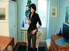 hot goth with toy in ass