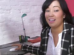 Thick Asian Milf MIYA at Work in HD