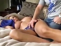 Big Breasted Milf fucked while sleeping