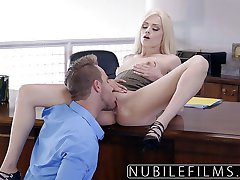 Elsa Jean Gives Boss Messy Blowjob