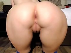 Tight wet shaved pussy fingering doggy cameltoe