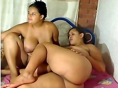 Chubby Lesbian Couple Playing on Webcam