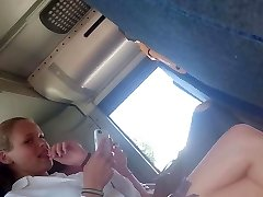 Flashing bugle for 2 hot teens in the bus part2