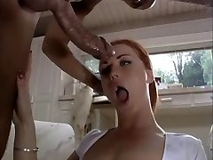 Blue eyed redhead takes cock up ass