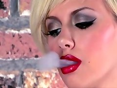 Tattooed Teen Smoking Masturbates