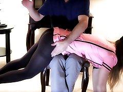 Glamour Model Samantha gets a spanking
