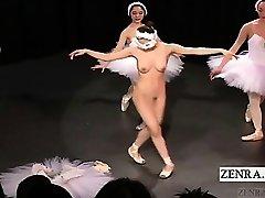 Sous-titré Japonais CMNF ballerine considérant bandes nu