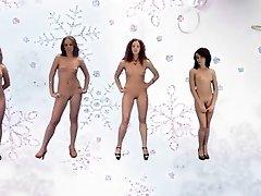 Bonne et heureuse Année par 5 les femmes russes (xednorton)