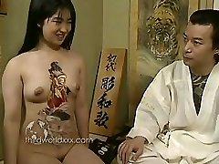 Zábava S Tetovaný Asijské Coura