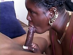 Ugly naughty blowlerina Bi Nature enjoys riding a stiff black cock