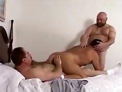 Crazy male in fabulous bareback, bears homo porn clip