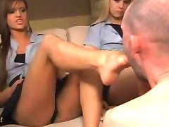 2 girls in uniform foot worshipped
