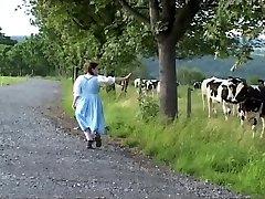 Tradiční německá služka mléka