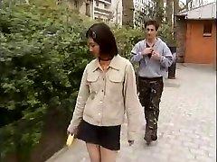 Korean college girl fucks western spunk-pumps -1