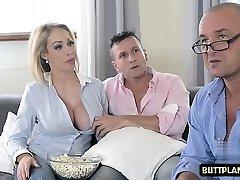 Big tits pornstar titty poke and cum in mouth