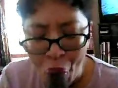 Chinese Milf suck dark-hued trunk many times
