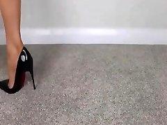 FEMDOM Naked Feet IN HIGH HEELS - saf