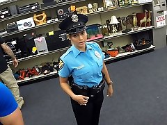 Beautiful and thick orbs police officer gets fucked in Shawns office