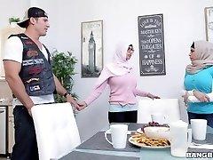 BANGBROS - Mia Khalifa Brings White Demon Beau Home For Dinner